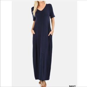 COMING SOON - Navy Maxi Dress
